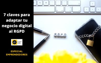 Autónomos: Siete claves para adaptarte al RGPD
