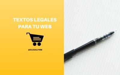 Textos legales que toda web debe tener